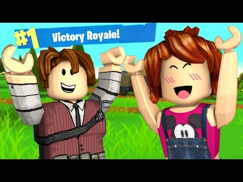 FORTNITE NO ROBLOX COM A JU (Island Royale)