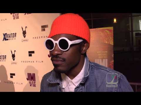 ANDRE 3000 on red carpet for #JIMI | Hollywood +