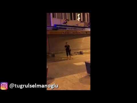 CHP kafasını izleyin...Ak Parti Bayraklarını İndirmeye Çalışan Teyze... İstanbul | Küçükçekmece
