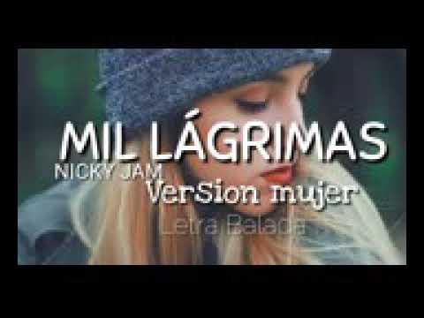 Mil Lagrimas-Xandra Garsem Gover (Nicki jam) Letra HD