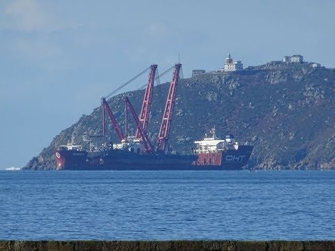 OFFSHORE GALICIA fleet at anchor  CABO FISTERRA of NAVIEIRA JALISIA owner.