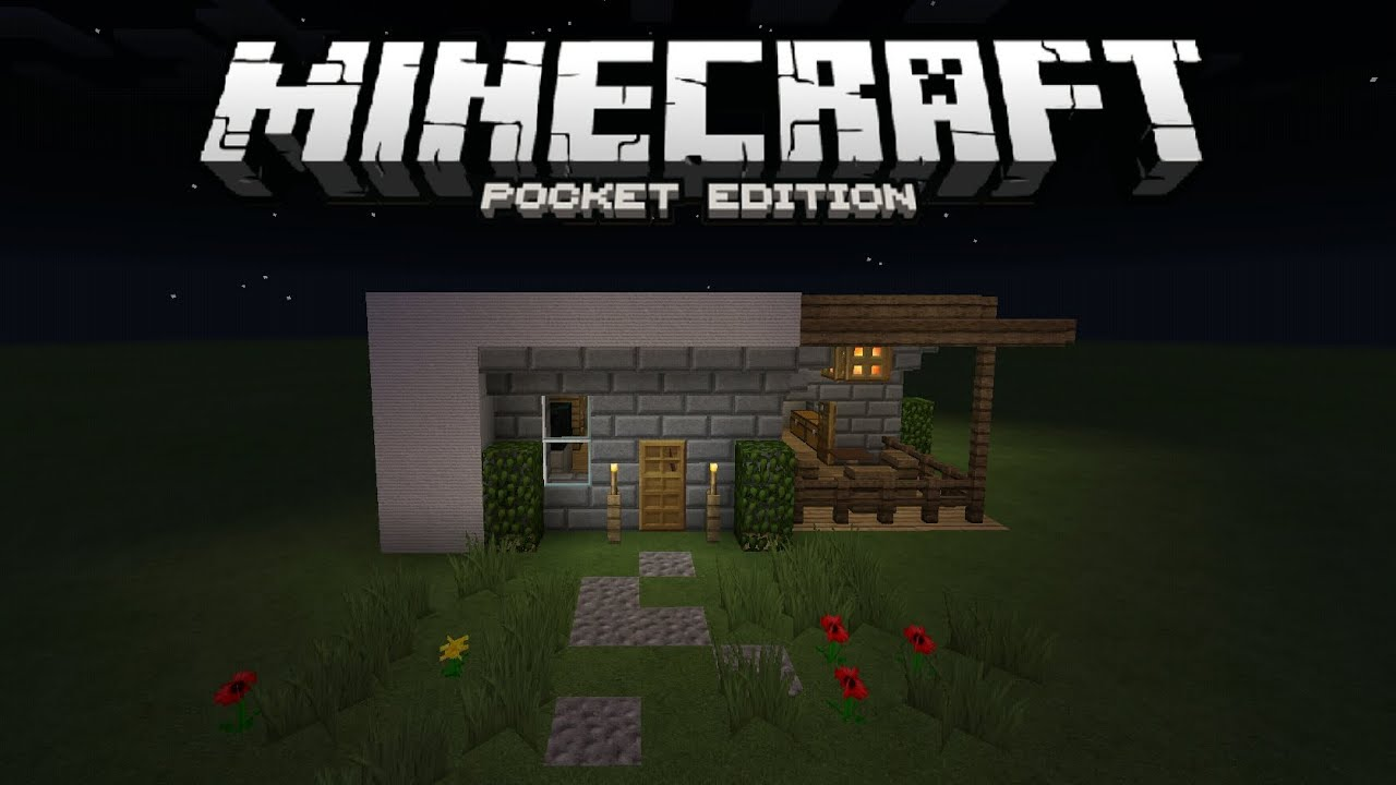 Minecraft pocket edition let 39 s build modern for Modern house minecraft pe 0 12 1