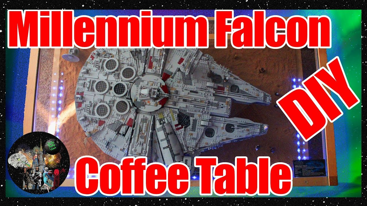 DIY UCS Millennium Falcon LEGO Coffee Table How To