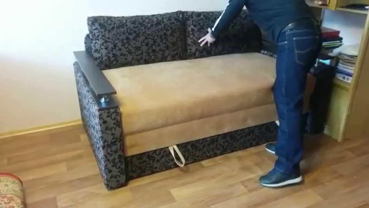 Синий спальный раскладной диван