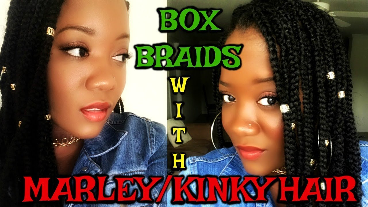 box braids marley hair