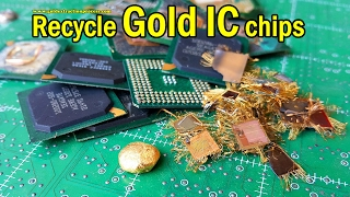 Chipset ic does contain gold. Method Recycle gold chips electronic components for recycling.