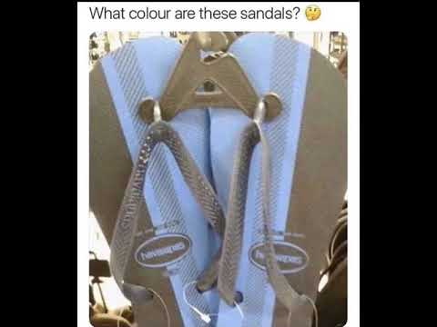 d9f3c35c9 What color are these sandals  🤔 - YouTube