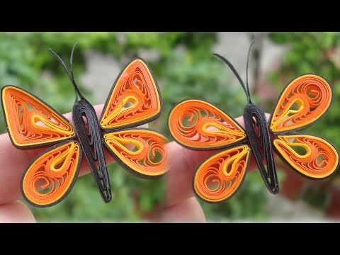 Quilling Simple Butterfly Tutorial | DIY Paper Butterfly Home Decoration