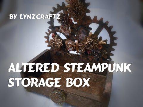 Altered Art Tile Storage Box Steampunk Style