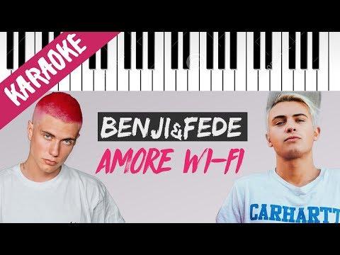 Benji & Fede | Amore WI-FI // Piano Karaoke con Testo