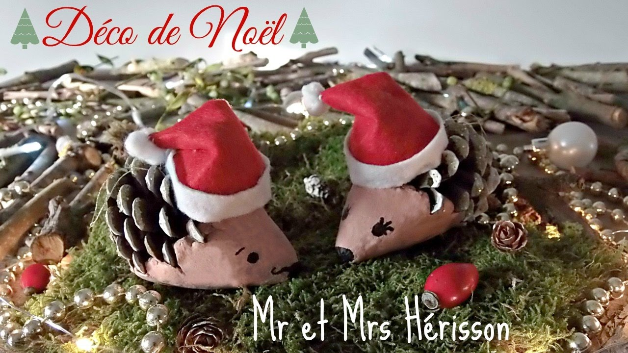 D coration de no l pommes de pin h rissons youtube - Deco de noel naturelle ...