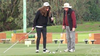 Blind Man Giving Golfers Advice