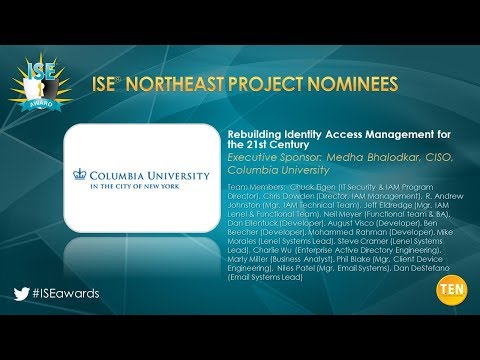 ISE Northeast 2018 Project Finalist - Columbia University