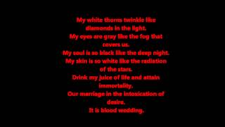 E Nomine's Dracul's Bluthochzeit ( English Lyrics)