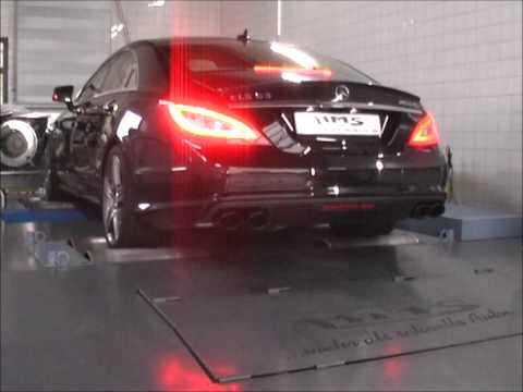 Mercedes CLS 63 AMG 5.5 Bi-Turbo mit HMS Performance  Klappenabgasanlage Soundfile Püfstand.wmv