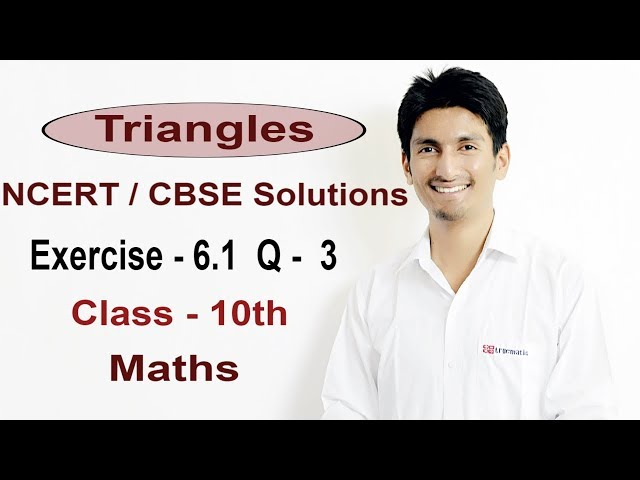 Exercise 6.1 Questions 3 - NCERT Solutions/CBSE Solutions for Class 10th Maths Triangles
