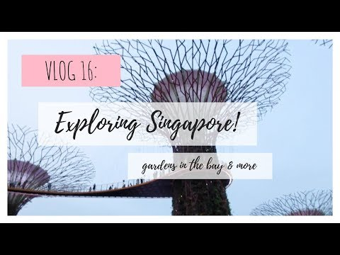 study abroad in thailand | VLOG 16 | exploring singapore! gardens in the bay & more