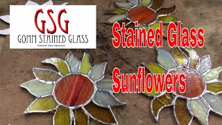 Stained Glass Sunflowers V308