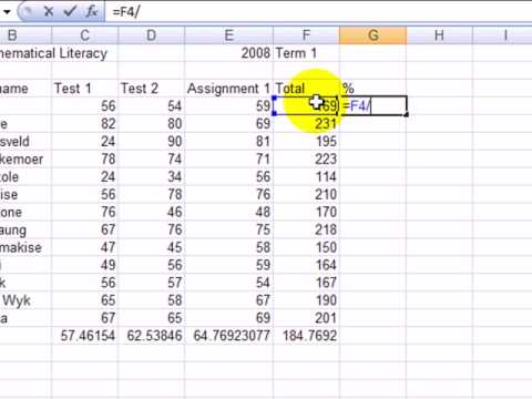 M17(8) How to calculate percentages using an excel spreadsheet - YouTube