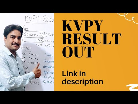 Download KVPY result out Check your KVPY result cut off of KVPY release all india ranking available in Link 