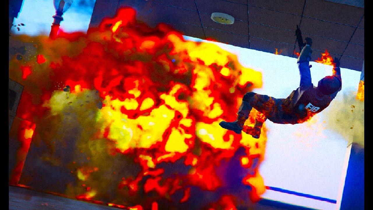 GTA V - EXPLOSIONS [Slow motion] #8