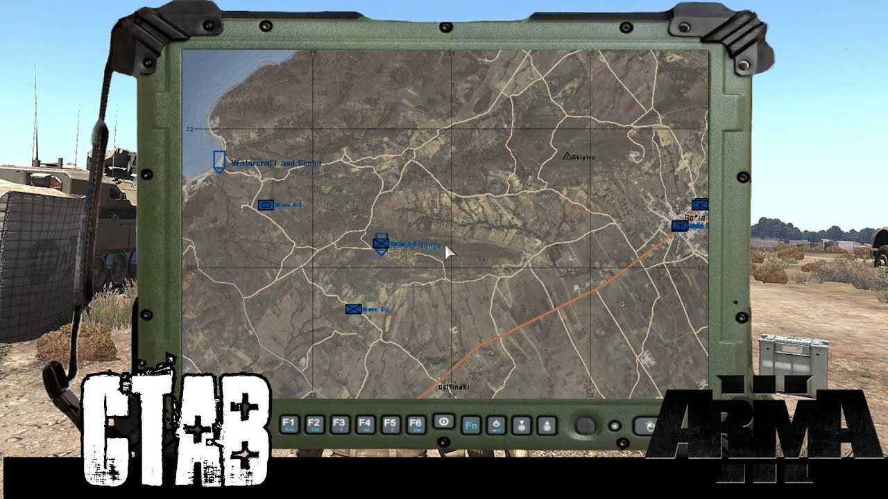 ArmA 3 cTab First Look - Commander's Tablet - FBCB2, Bluforce Tracker, UAV,  and Helmetcam Interface