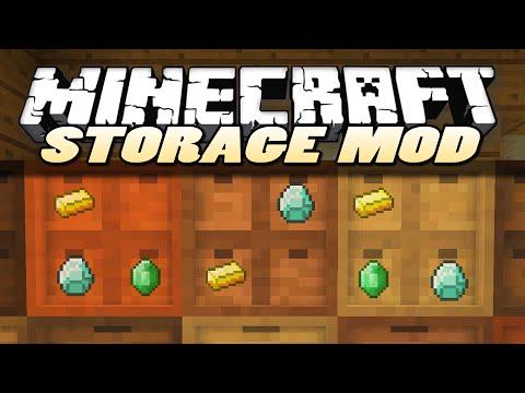 Minecraft Mods | STORAGE DRAWERS | Mod Showcase