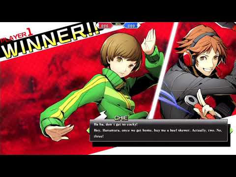 Blazblue: Cross Tag Battle Chie All Unique Interactions and Win Quotes - Eng Dub