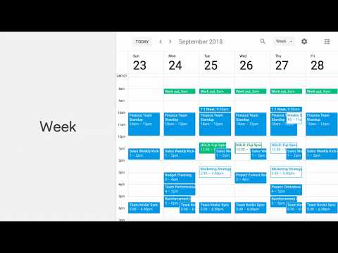 Week, day, month? Customise the way you view your Calendar