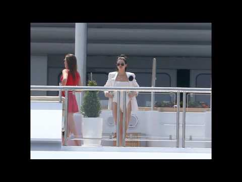 Kendall Jenner on a yacht in Antibes.