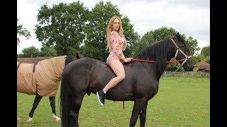 Tracy Kiss Behind The Scenes Horses Photoshoot