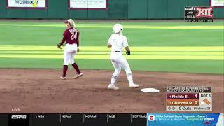 Oklahoma State vs. Florida State NCAA Softball Highlights
