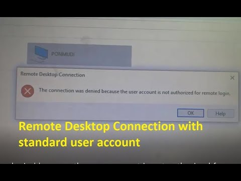 How to fix The connection was denied because the user account is not authorized for remote login