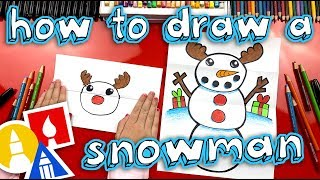 How To Draw A Snowman (Folding Surprise)
