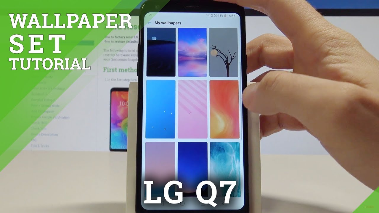 How to Change Wallpaper on LG Q7 - Set Up Home Screen and Lock Screen Wallpaper