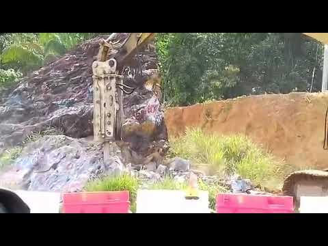 Batu Katak di Sarawak di hancur kan untuk laluan Pan Borneo Highway
