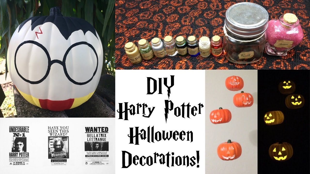 DIY Harry Potter Halloween Decorations
