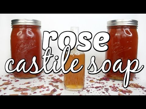 HOW TO MAKE ROSE LIQUID CASTILE SOAP Ι TaraLee