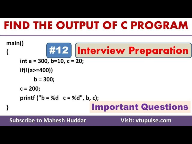 #12 Find the Output, Logical Operators, Conditional Statements, Campus Interview Preparation