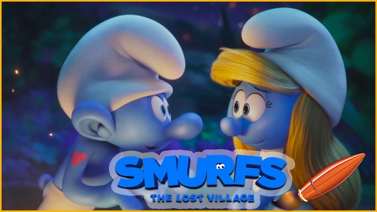 Coloring smurfs the lost village with smurfette and hefty kids coloring book coloring pages - Hefty smurf the lost village ...