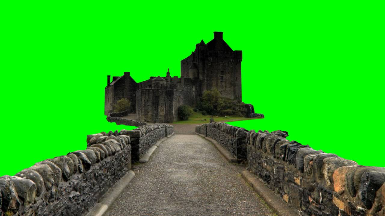 castle in green screen free stock footage youtube