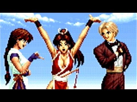不知火舞 vs 草薙柴舟,オメガ・ルガール and エンディング - THE KING OF FIGHTERS '95(PS) [GV-VCBOX,GV-SDREC]