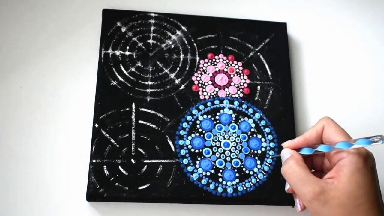 Mandala Drawing Tutorial Easy Diy Dot Painting For