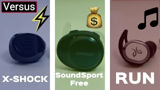 Bose SoundSport Free Vs JayBird Run Vs Soul X-Shock - The Sports Wireless Earbud Match Up
