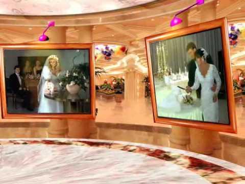 wedding photo album made by 3D album software & 3D times template