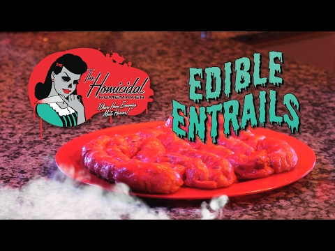 Edible Entrails – The Homicidal Homemaker Horror Cooking Show (Halloween Walking Dead Recipe)