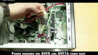 Installing Alnet PCIe AVC DVR Cards for Home and Business Security Camera Installations