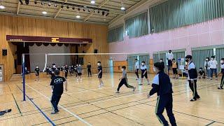 체육대회 배구 3학년 vs 1학년