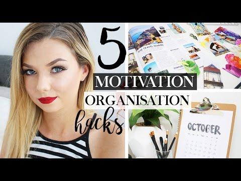 5 Organisation & Motivation Hacks