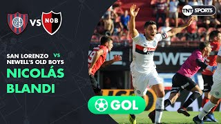 Nicolás Blandi (1-0) San Lorenzo vs Newell's | Fecha 19 - Superliga Argentina 2018/2019